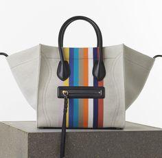 #Celine Mini Luggage Handbag in Calfskin Color: Bright Orange Multicolour ❤