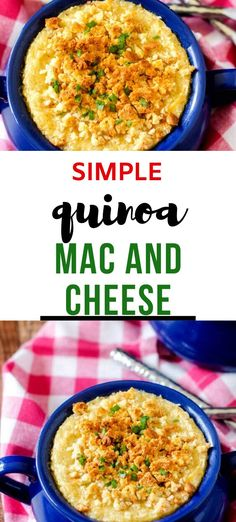 Anytime I can satisfy my cravings for cheesy casseroles in a way that doesn't involve a lot of unhealthy ingredients I am ecstatic. This Simple Quinoa Mac and Cheese is one of my go-to meals. I prepare the Quinoa as part of my weekly meal prep, which makes this gluten-free dish super easy to put together.  #wendypolisi #glutenfreerecipes #healthyglutenfree #Quinoa #quinoacasseroles Best Quinoa Recipes, Great Recipes, Dinner Recipes, Favorite Recipes, Quinoa Health Benefits, Quinoa Mac And Cheese, Meal Prep For The Week, How To Cook Quinoa, Gluten Free Recipes
