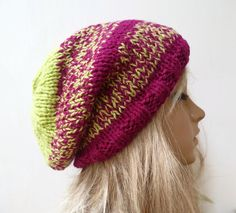 Sale Hand Knitted Hat Women's Slouchy Hat by Clickclackknits ♡♡