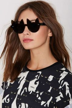 Exclusive I Still Love You NYC Ally Cat Shades - Accessories   Eyewear