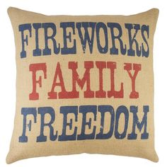You'll love the Fireworks Family Freedom Burlap Throw Pillow at Wayfair - Great Deals on all Décor & Pillows products with Free Shipping on most stuff, even the big stuff.