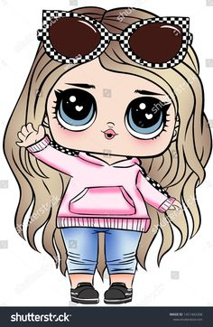 Lol Doll Design for Baby T-shirt Doll Drawing, Cute Girl Drawing, Doodles Bonitos, Easy Art For Kids, Cute Kawaii Girl, Cute Coloring Pages, Cute Kawaii Drawings, Cute Doodles, Lol Dolls