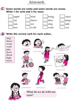 Grade 1 Grammar Lesson 13 Verbs - Action words (1)