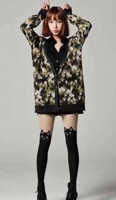 (ulzzang) winter wind; soldier sweater
