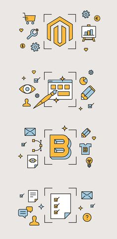 Magento Development Icons and Illustrations