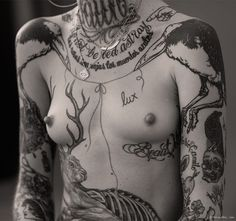 Ink & Skin, tattoo story, tattoo artist, chest tattoo / Garance Doré