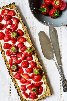 Mascarpone and strawberry cake {Confessions of strawberries ... and without turning on the oven} '