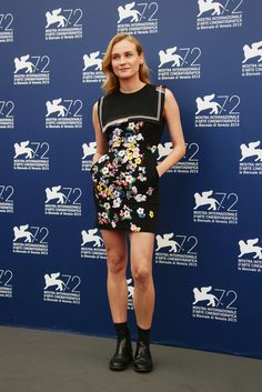 Diane Kruger In Preen at the opening ceremony of 2015 Venice Film Festival   - ELLE.com (=)