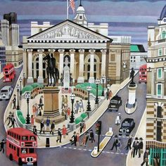 Alfred Daniels Fine Art Greetings Card The Royal Exchange