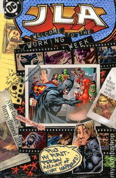 JLA Welcome to the Working Week (2003) 1 DC Comics Book cover art super heroes villians Justice League of America Batman superman