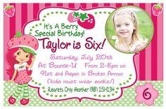 Strawberry Shortcake party invitation