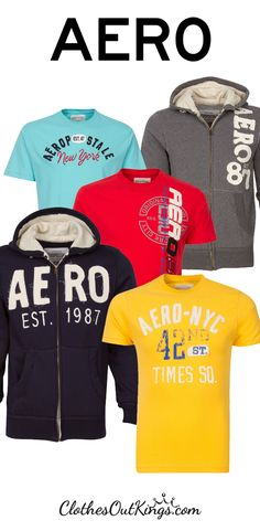 Men's Aeropostale shirts, hoodies. Spice up your wardrobe with fresh tees and hoodies in a variety of styles and colors. Find them at http://www.clothesoutkings.com/brands/Aeropostale.html