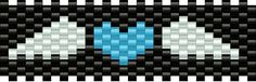 winged blue heart bead pattern