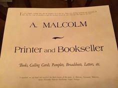 """A. Malcolm.  Alexander Malcolm.  James Alexander Malcolm MacKenzie Fraser. Perhaps.""    Voyager by D. Gabaldon"