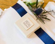 Napkin and venue styling by Blue Thistle Weddings www.bluethistleweddings.co.uk