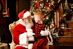 Top 23 Christmas Traditions to Celebrate with your Family! Have professional santa pictures in your pajamas!