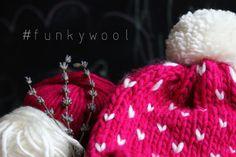 knitted beanie magenta