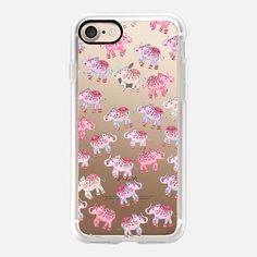 LUCKY ELEPHANTS PINK by Monika Strigel iPhone 6s iPhone 7 Hülle by Monika Strigel   Casetify (DE)   $40  #casetifyiPhone7 #iphone7 #iphone7case #popular #cute #