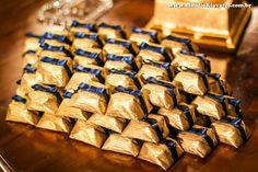 bem casado dourado com azul - Pesquisa Google