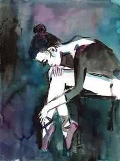 The Ballerina by Jessica Buhman Print of by ArtbyJessBuhman, $24.95 ballet dancer art print