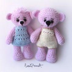 медвежонок игрушка амигуруми схема вязания