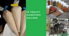 Everyone could use a few tips, tricks & hacks while they are camping. Take a look at these 15 camping hacks. Scrambled Eggs In A Bottle TP Container Campfire Orange Rolls Campfire Eclairs Easy Campfire Pancakes Walking Tacos Quick Bright Lantern Mini Medicine Cabinet Space Saving Spices DIY Soap Pouch Outdoor Kitchen Organizer DIY Fire …