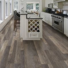 Allure ISOCORE is the latest innovation in vinyl flooring, available exclusively at The Home Depot. Allure ISOCORE Multi-Width Plank Flooring features an innovative, closed-cell foamed PVC core that delivers rigidity and strength, yet is lightweight and easy to handle. Three interchangeable plank widths give you the ability to create a truly custom, authentic wood look floor, and the simple drop-and-lock end joints make installation a breeze. A solid virgin vinyl layer enhances durability…