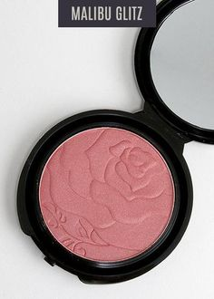 Gorgeous blush with delicate rose design. My Makeup Collection, Rose Design, Glow, Delicate, Blush, Coral, Rouge, Sparkle