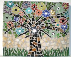 owl mosaic | Mosaic Owl in Tree Original Wall Hanging by JanetsMosaics on Etsy