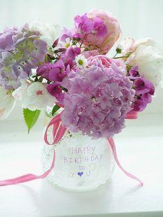Birthday flower arrangement | sweet berry me via flickr