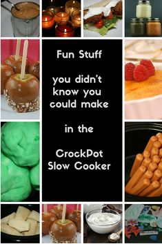 It's not just a glorified pot roast machine!! Did you know you could make all these things in the crockpot? I like to try just about everything I can think of, at least once, in the slow cooker.