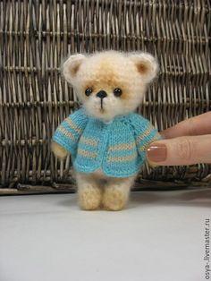 Купить Медвежонок Клим - бежевый, вязаный мишка, пушистый друг, подарок на любой случай
