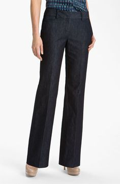 Forever a trouser fan I like these Halogen® 'Taylor' Curvy Fit Denim Pants from Nordstrom