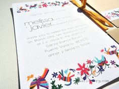 Destination Wedding Invitation - Mexico De Mis Amores. via Etsy.