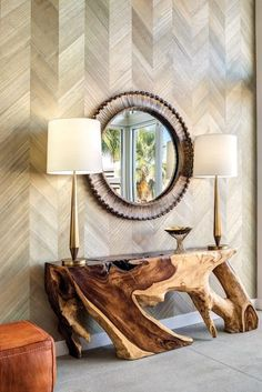 Richard Read Interiors Infuse Coziness Into Palm Springs Home chamcha tree root table Decor, Furniture Design, Outdoor Furniture Plans, Ornate Furniture, Rustic Furniture Design, Interior, Contemporary Living Room Design, Wood Slab Table, Diy Furniture Building