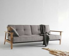 Innovation Splitback Sofa Bed - Having nice furniture in your home allows you to feel both relaxed emotionally and physicall Danish Sofa, Danish Furniture, Sofa Furniture, Furniture Design, Sofa Design, Canapé Design, Deco Design, Innovation Sofa, Innovation Design