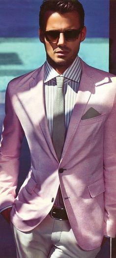 Latest Coat Pant Designs Hot Pink Men Suit Casual Terno Slim Fit Skinny Wedding Suits For Men Blazer 2 Piece Tuxedo Masculinos 5 Gentleman Mode, Gentleman Style, Southern Gentleman, Dress Shirt And Tie, Suit And Tie, Mode Masculine, Sharp Dressed Man, Well Dressed Men, Foto Fashion