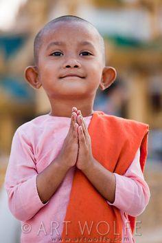 Young nun, Yangon, Myanmar