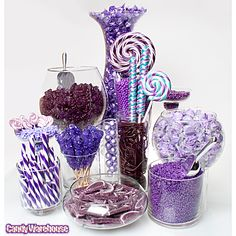 Purple Candy Buffets   Photo Gallery   CandyWarehouse.com Online Candy Store