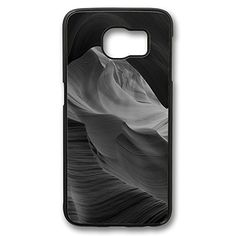 S6 Cases Black Antelope Canyon Bw Black Mountain Rock Nature Design [Slim-Fit] Protective Cover Shock-Absorption Bumper for Samsung Galaxy S6