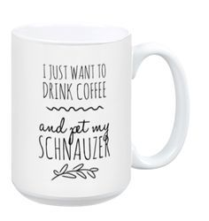 Some days all you need is coffee and a little love from your Schnauzer. This 11oz ceramic mug is dishwasher and microwave safe for maximum durability, and easy clean up.