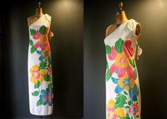 Floral Sundress / Alfred Shaheen Maxi Dress / Hawaii by LesVintage,