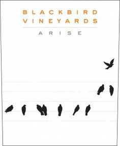 Blackbird Vineyards Arise label. Love the graphic design here (the birds are on a musical staff and also double as notes!)