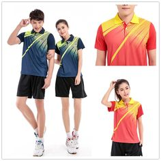 Cheap 2016 juego de tenis ( Polo + Shorts ) hombres y mujeres transpirable de…