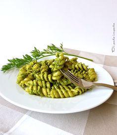 Di pasta impasta: Fusilli al pesto di foglie di carote