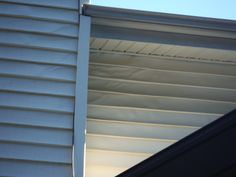 Before Picture of the melted siding caused by the sun hitting it.