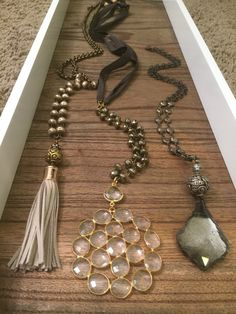 One of a kind necklaces. For wholesale and retail inquiries email lisajilljewelry@gmail.com