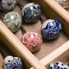 Boutons de porte en céramique