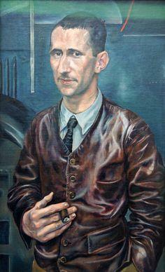 Rudolf Schlichter portrait of Bertolt Brecht
