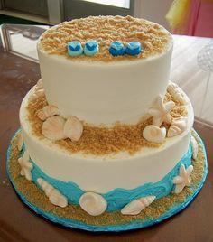 Pin Flip Flop Beach Themed Bridal Shower Cake On Pinterest